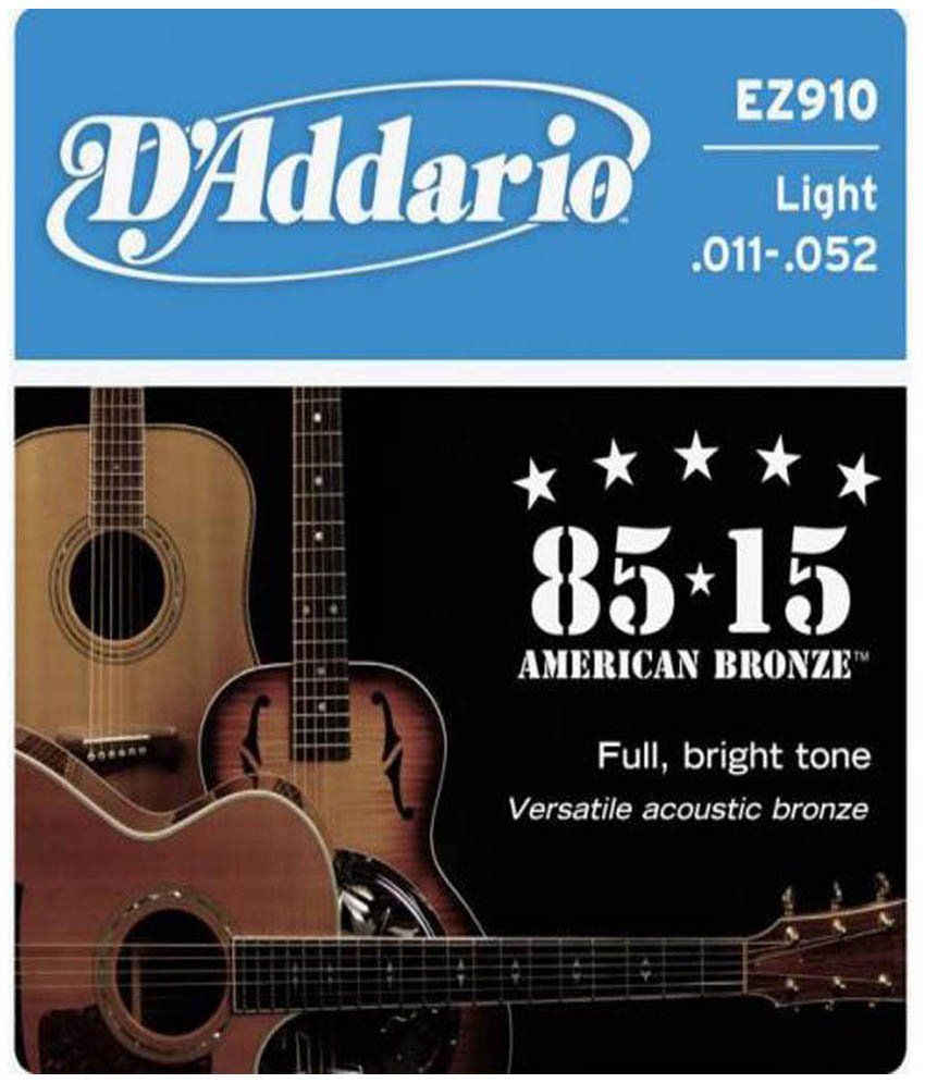 d 39 addario acoustic guitar strings 85 15 bronze buy d 39 addario acoustic guitar strings 85 15. Black Bedroom Furniture Sets. Home Design Ideas