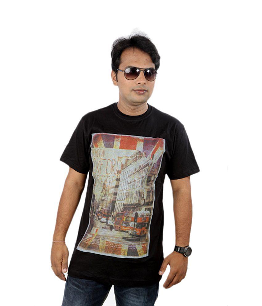 JOKE TEES Black Cotton T-Shirt