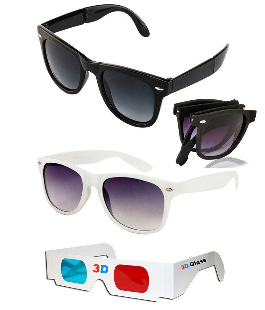 Talesara Combo Of Foldable Wayfarer Sunglasses + Wayfarer...