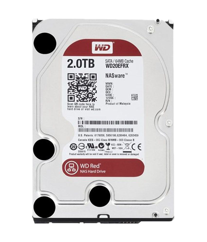 WESTERN DIGITAL 20EFRX 2 TB Red SATA 3.5 Inches NAS Hard Drive