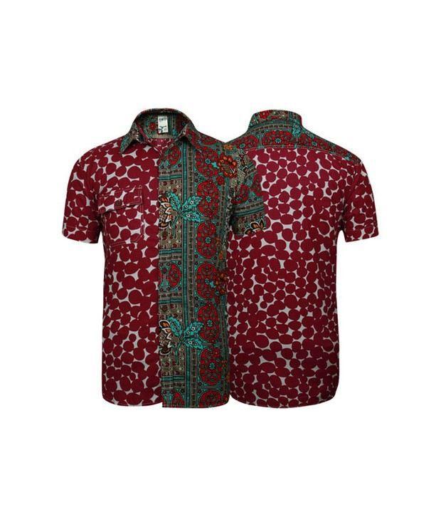 Probase Red Printed Shirt