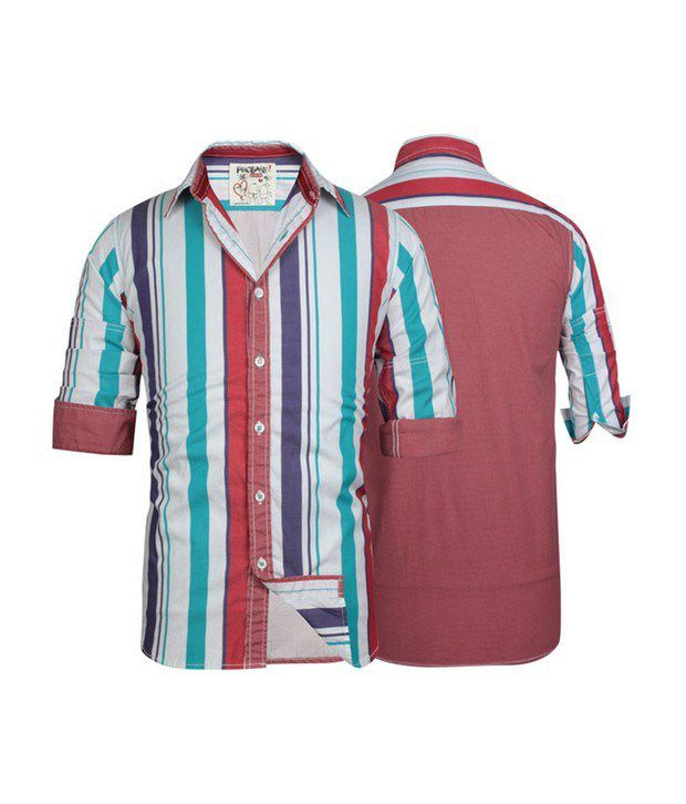 Probase Aqua Striped Shirt