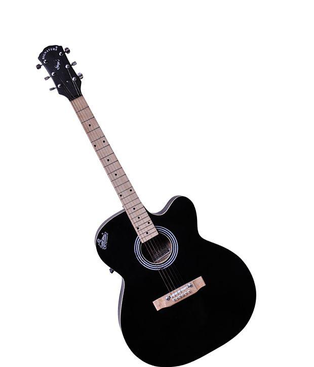 Signature Gogos 265 Topaz Series Acoustic Guitar w/cut w/Eq. Black
