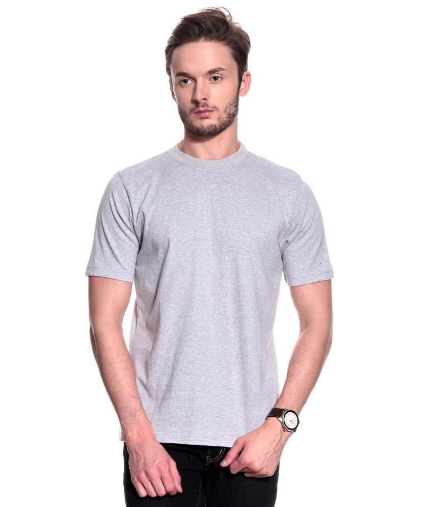 T10 Sports Grey Cotton T-Shirt