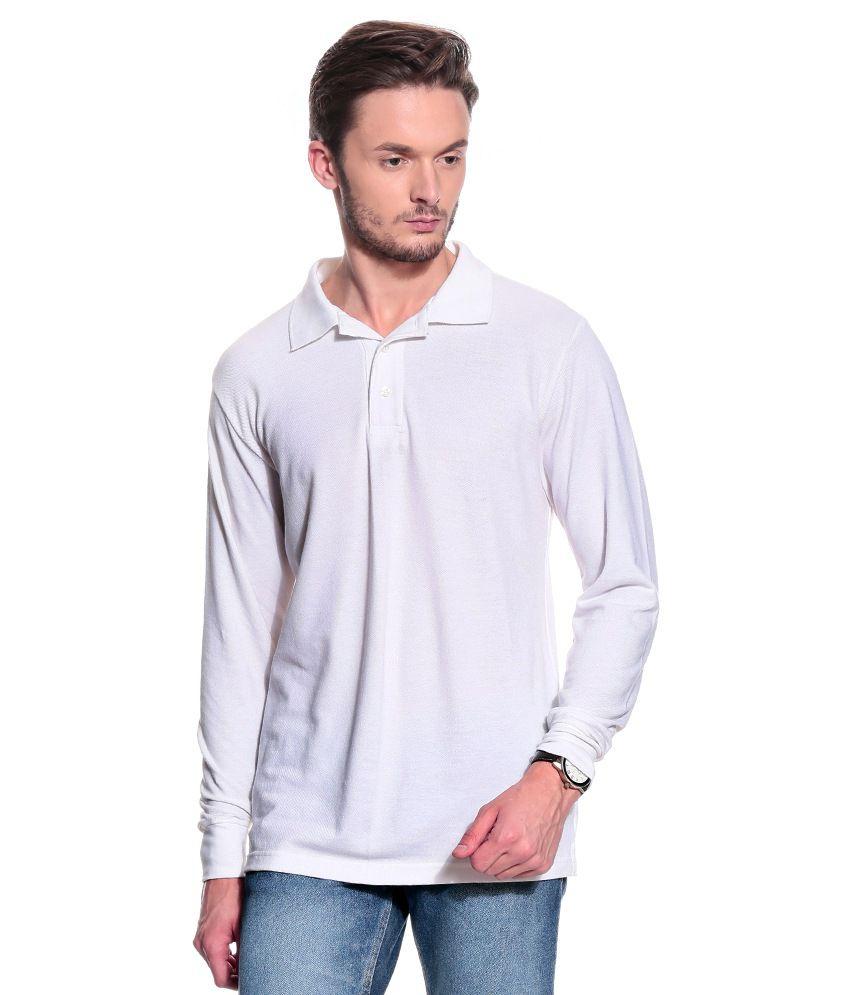 T10 Sports White Full  Polo T-Shirt