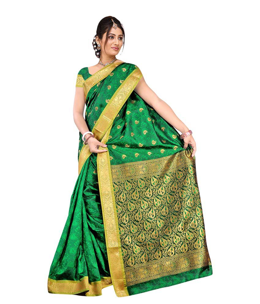 b85d7a8c61627 Green Dharmavaram Silk Sarees Related Keywords   Suggestions - Green ...