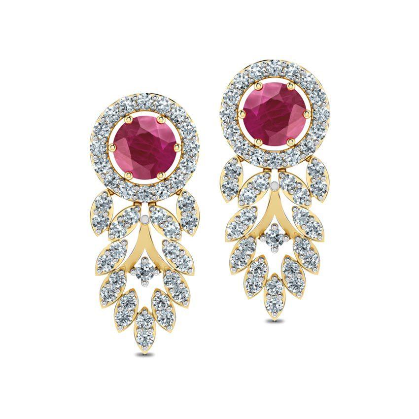 Surya Drop Earrings by Caratlane