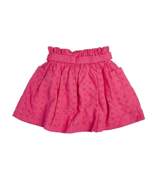 FS Mini Klub Hot Pink Color Broderie Skirt For Kids