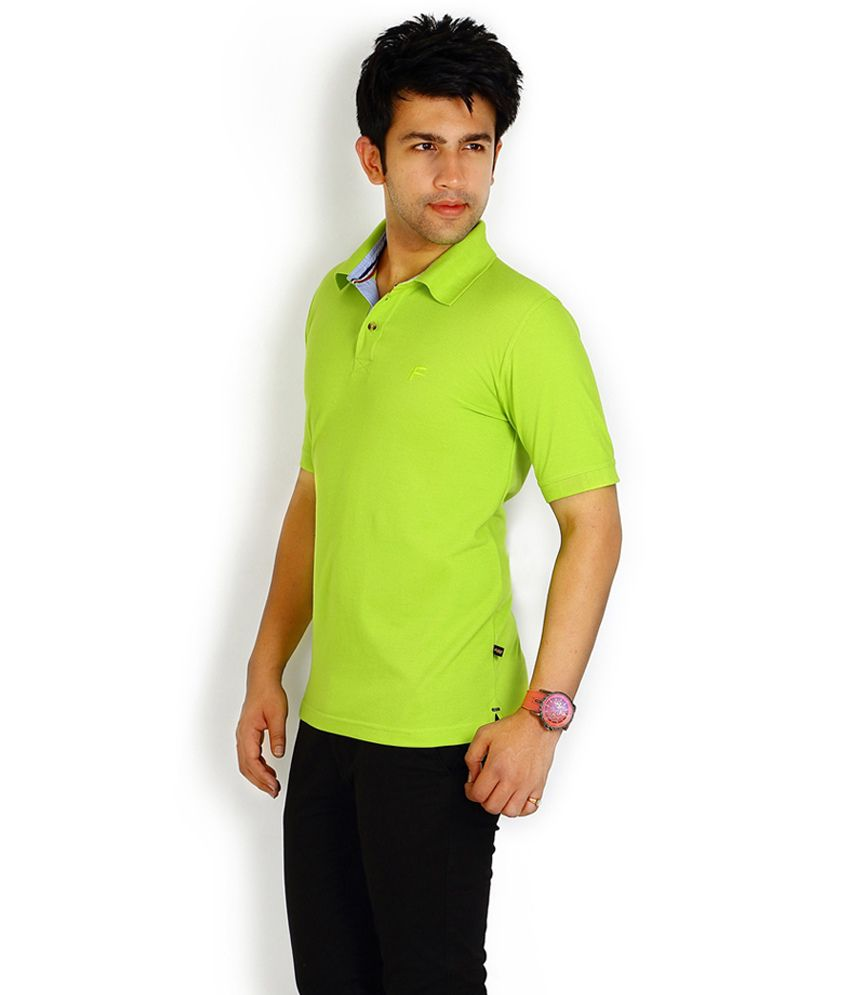 Fitz Green Half Cotton High Neck T-Shirt