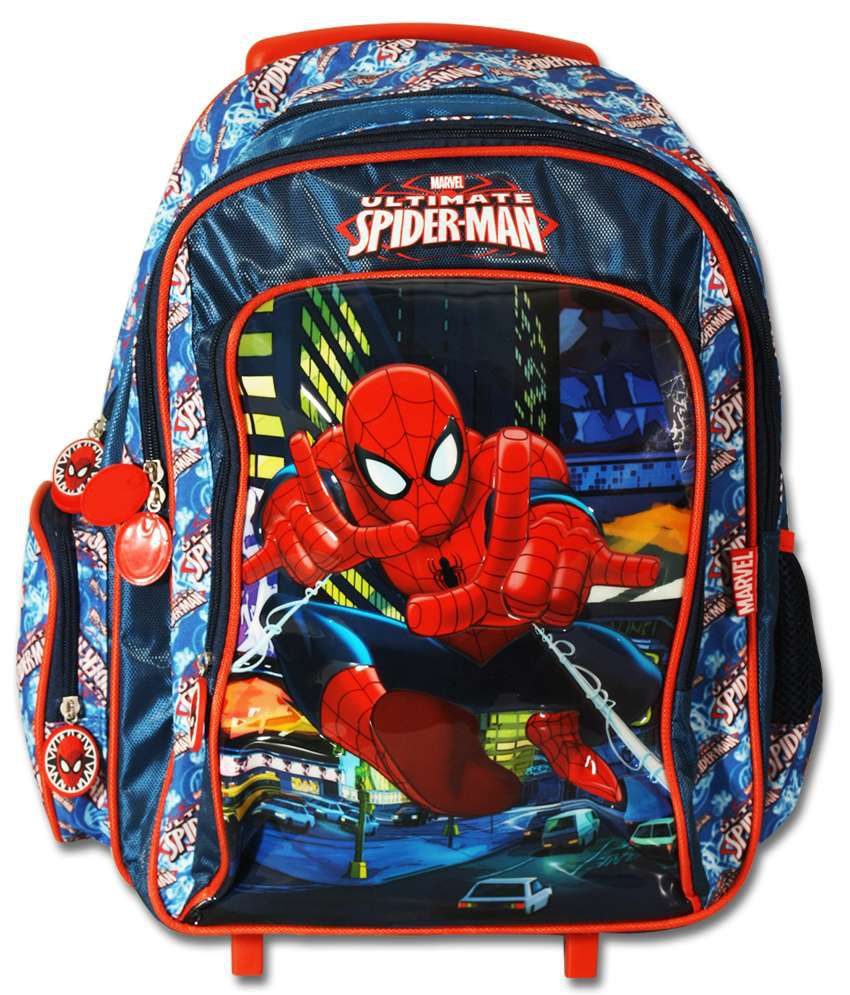 marvel spiderman multicolor kids trolley bag buy marvel