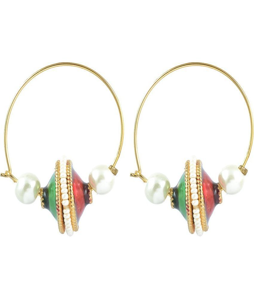 The Jewelbox Gold Plated Red Green Enamel Pearl Bali
