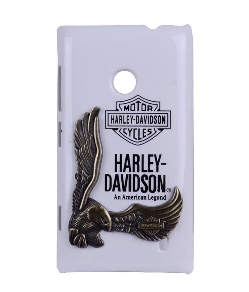 sgp nokia lumia 520 white premium design harley davidson