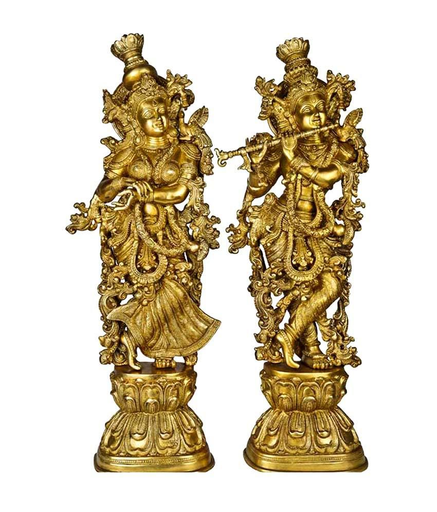 4b65701ad89 Lord Radha Krishna Statue for your home decoration Brass metal made figure  by Ashopi  Buy Lord Radha Krishna Statue for your home decoration Brass  metal ...