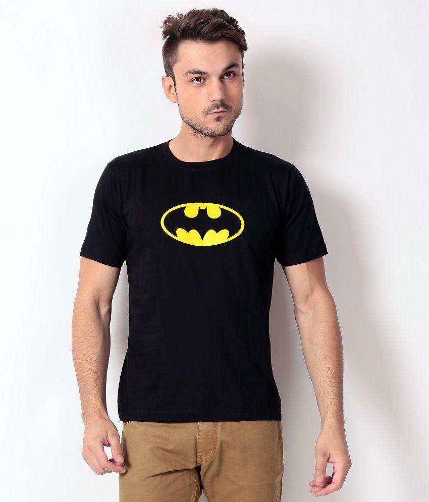 Weardo Black Half Cotton Round  T-Shirt