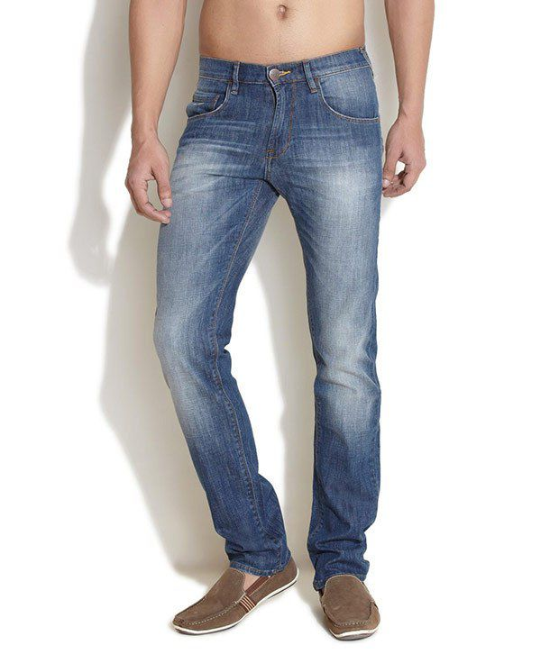 Web Jeans Blue Regular Fit Jeans