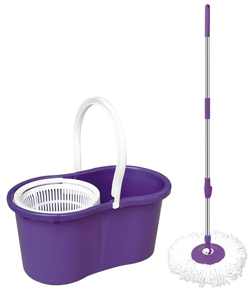 Color q online - Apic Easy Mop 360 Degree Rotating With Bucket And Dual Spinner Color As Per Availability