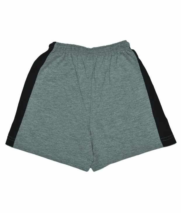 CNBen 10 Printed Melange & Black Color Shorts For Kids
