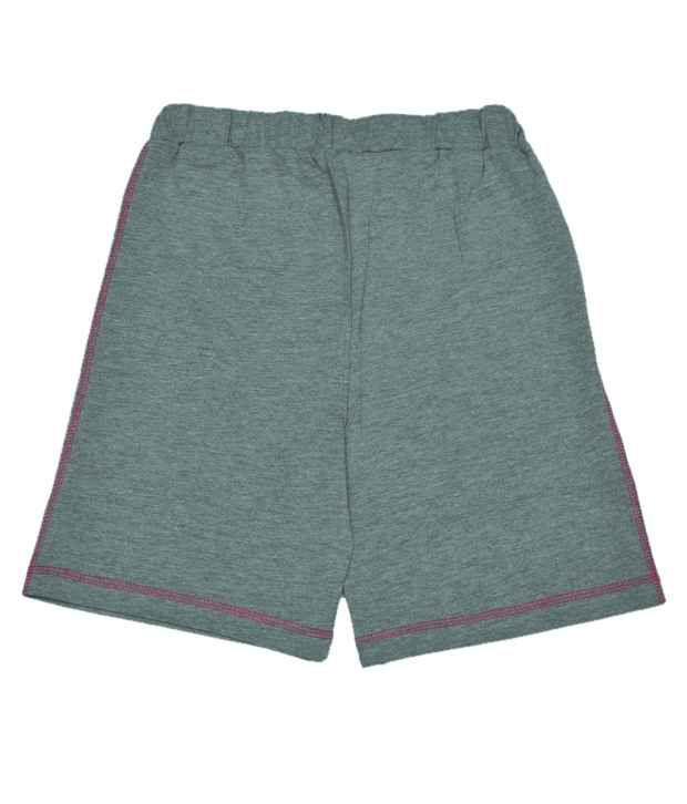 DisneyPrincess Printed Grey Melange Color Shorts For Kids