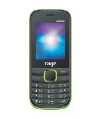 Rage Duke dual sim with 5.08 cm 2 screen and long run battery 3000 mAh in green color