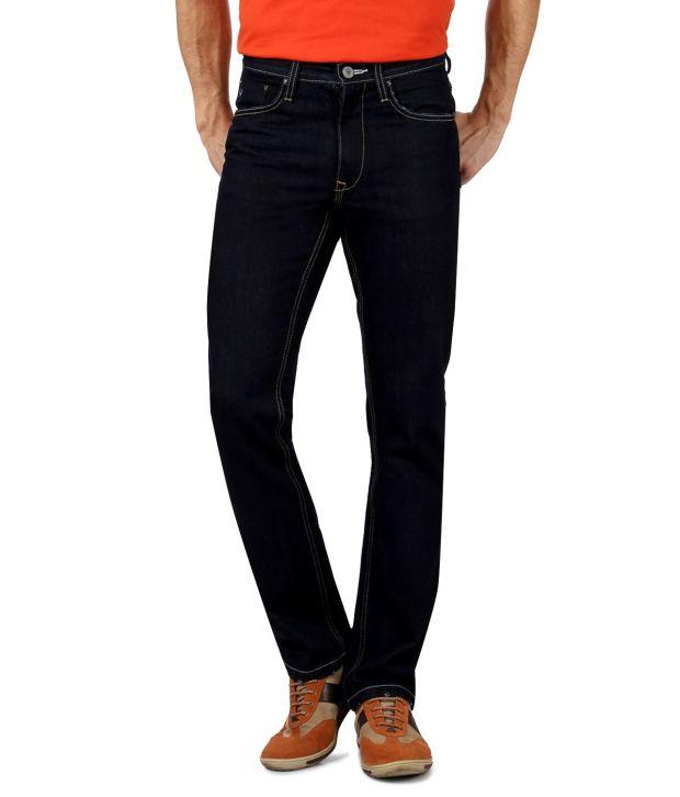Allen Solly Navy Regular  Fit Jeans