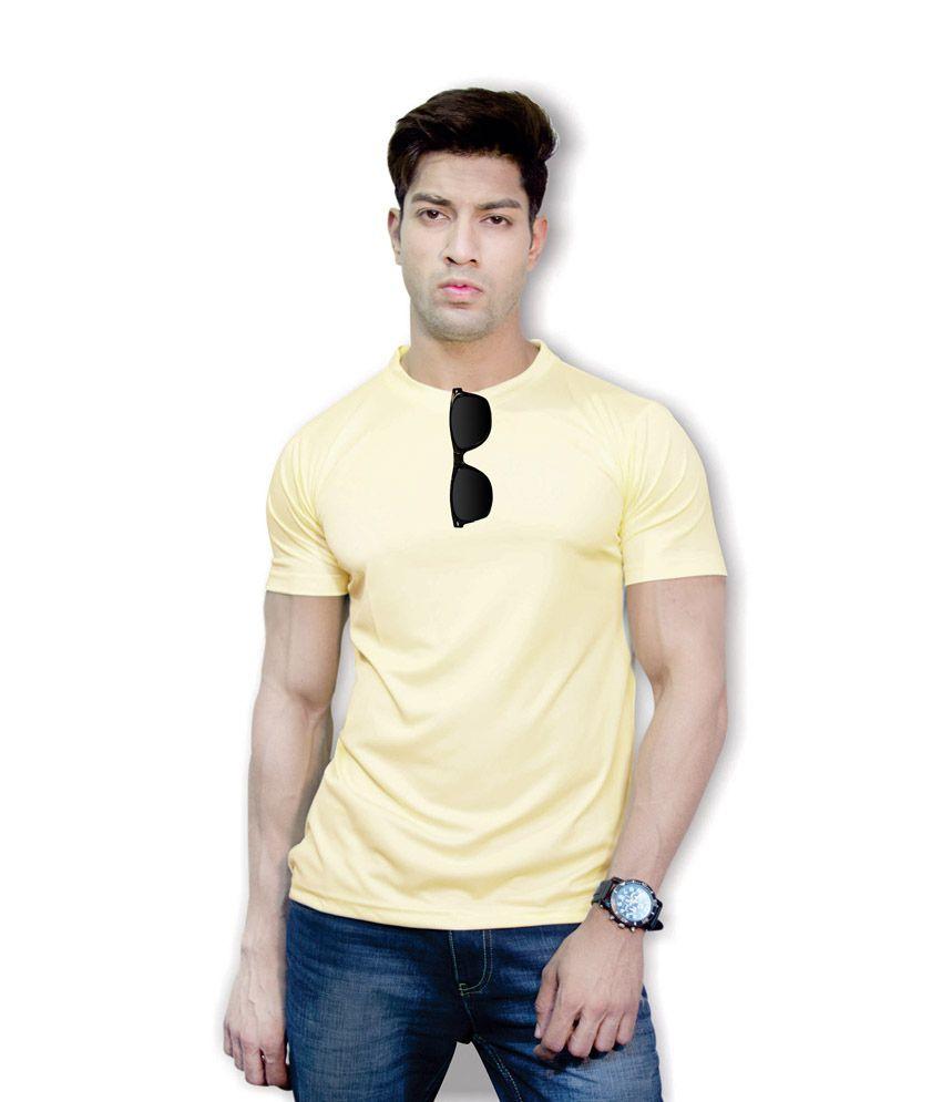 Effit Stately 3D Design Yellow T-Shirt