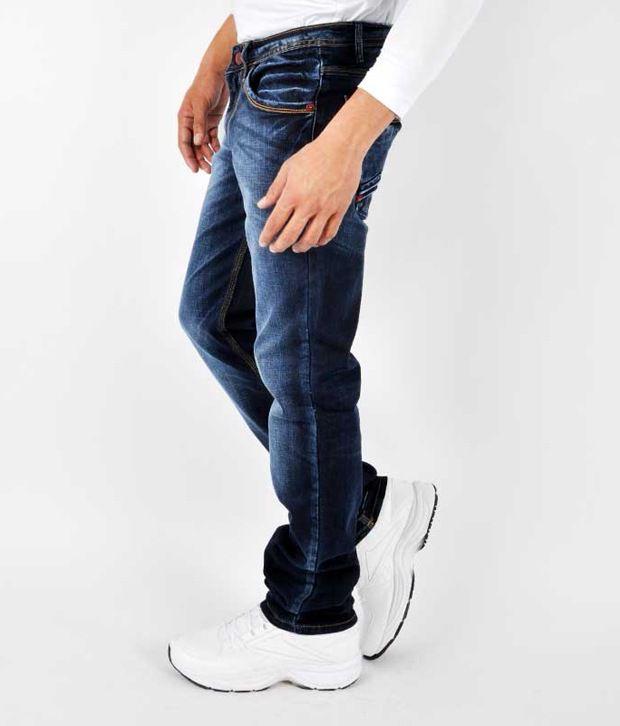 Gesture Men Jeans With Lycra Denim Slim Fit