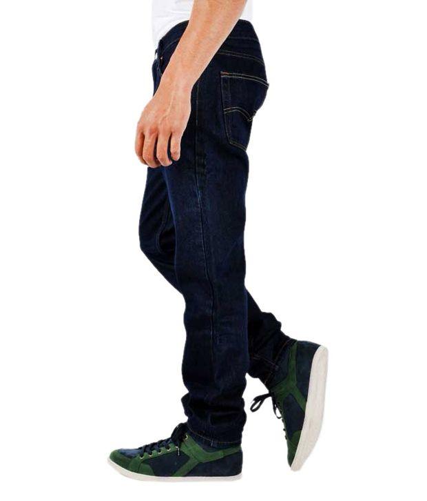 Levis Men Jeans With Lycra Blue Slim Fit