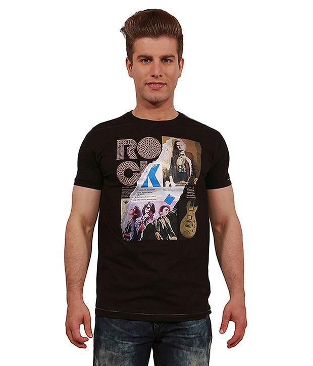 Status Quo Black Cotton Blend  T-Shirt