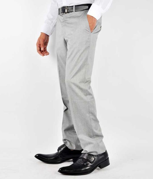 Van Heusen Formal Trousers Gray Formal