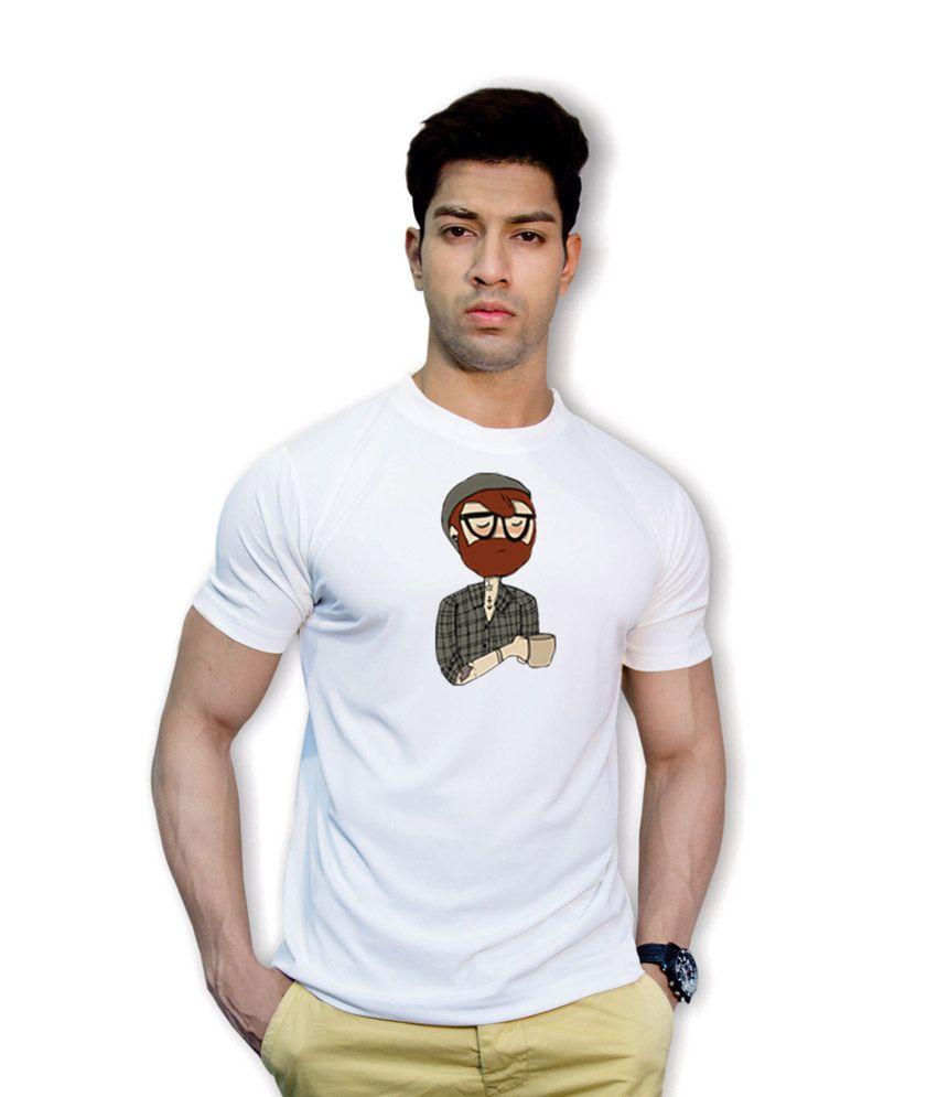 Effit Distinct White Dri-Fit T-Shirt