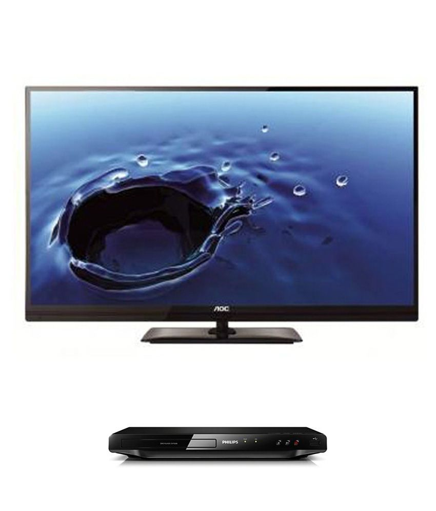 AOC LE 42 A3320/61 106.68 cm (42) Full HD LED SNB Television + Philips DVP3608 DVD Player