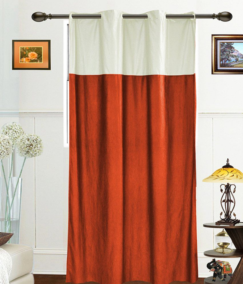 Dekor World Single Window Sheer Curtains Curtain Solid