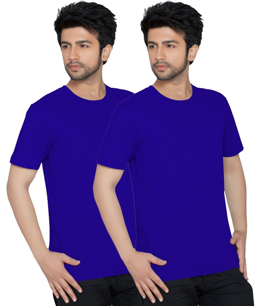 Texfit Men's Royal Blue Round Neck - Pack Of 2