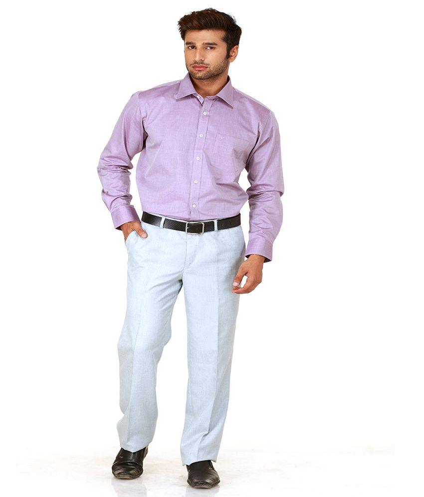 Givo Blue Slim Semi Formals Flat