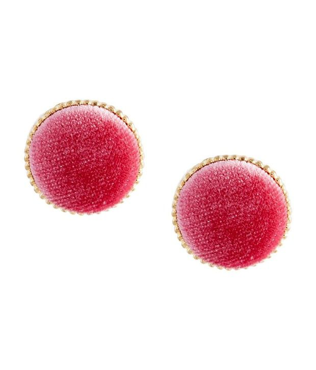 Crunchy Fashions Candy Pink Stud Earrings