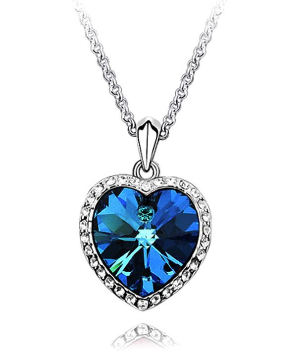 Crunchy Fashions Blue Sapphire Necklace