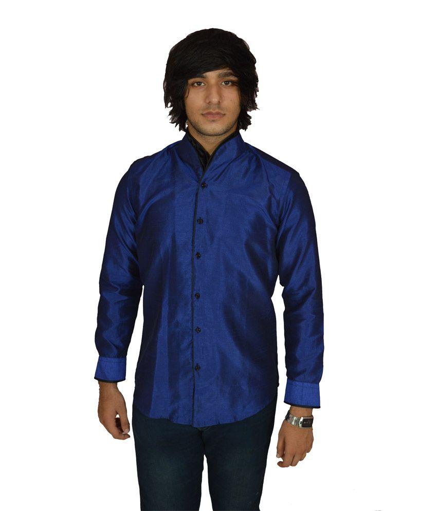 4d6d852841a51a Invogue Blue Raw Silk Shirt - Buy Invogue Blue Raw Silk Shirt Online at Best  Prices in India on Snapdeal