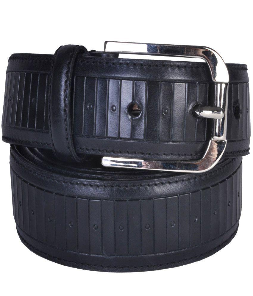 Leather Plus Black Formal Single Belt Formen