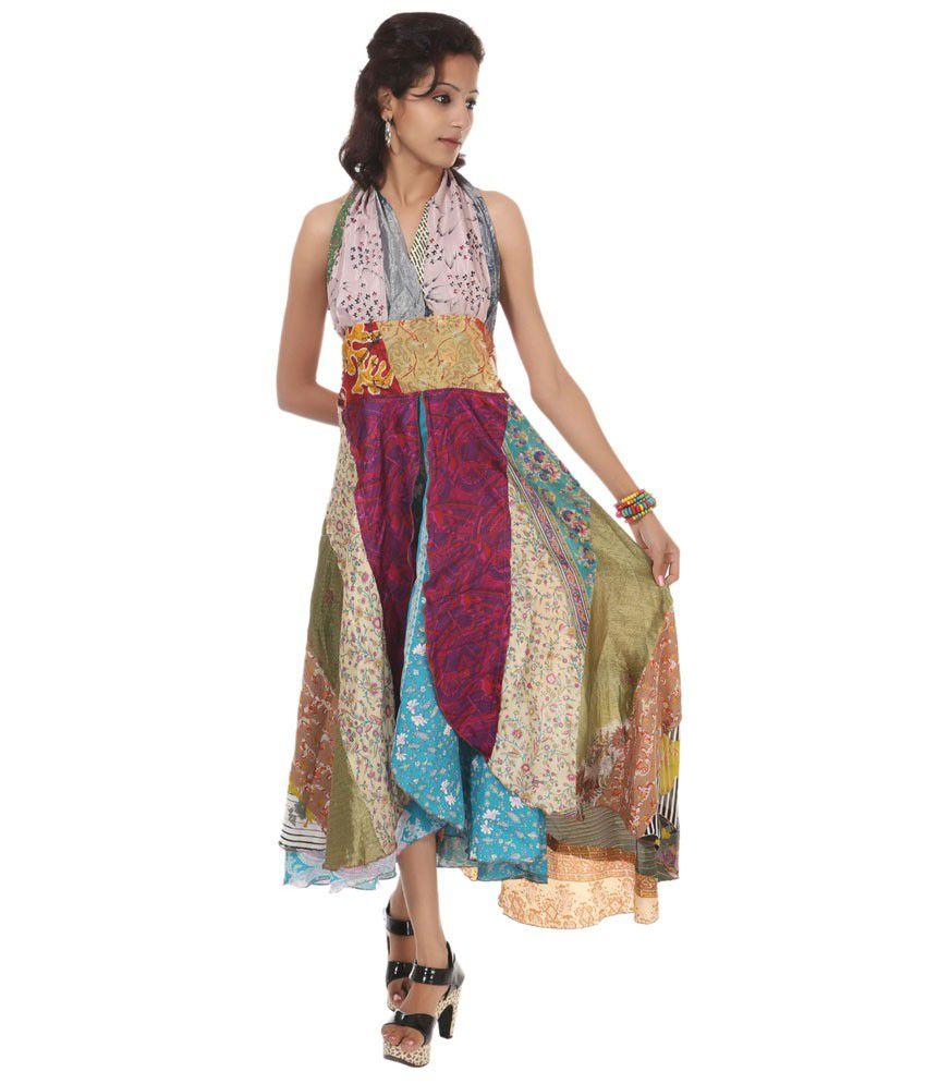 Rajrang Multicolor Art Silk  Dress