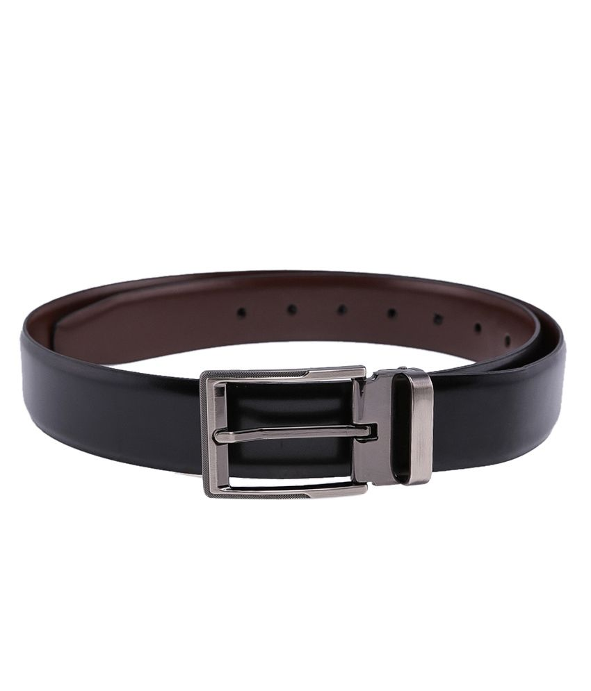 Tossido Black$Brown Formal Reversible  Belt  ForMen