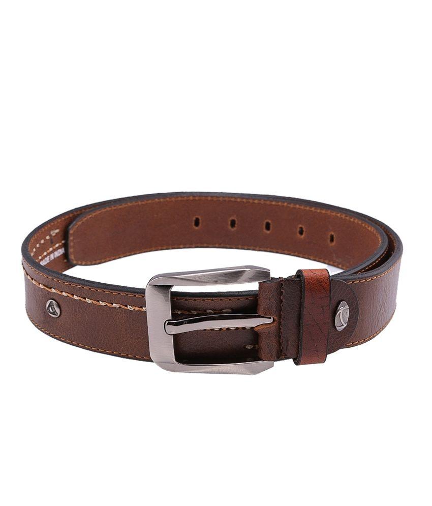 Tossido Brown Casual Single  Belt  ForMen