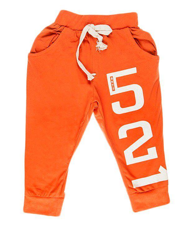Hunny Bunny D.orange 521 Cotton Capri For Girls
