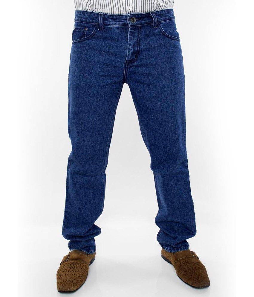 Prankster - Basic Heavy Denim Jeans- Dark Blue