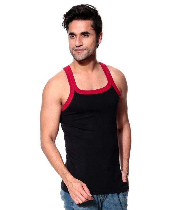 9224c439 ... Tsg Escape Men's Gym Vest- Pack Of 3- Red, Black And Charcoal Colour ...