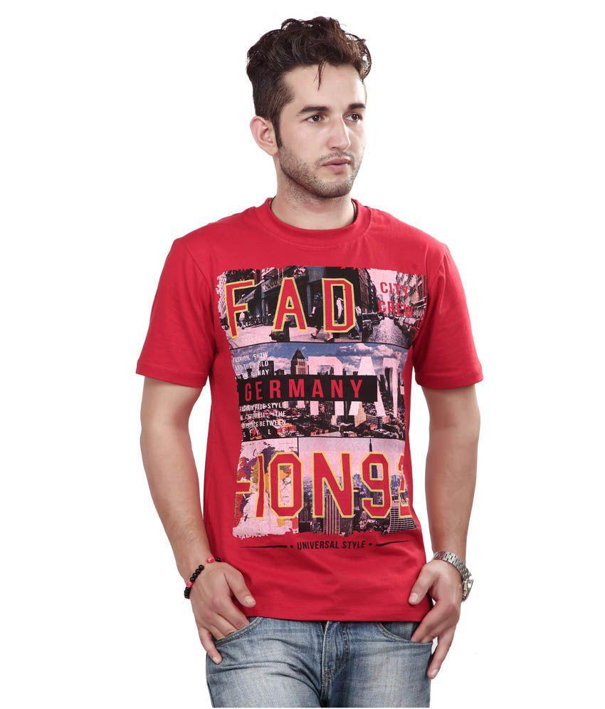 Free Spirit Red Cotton T-Shirt