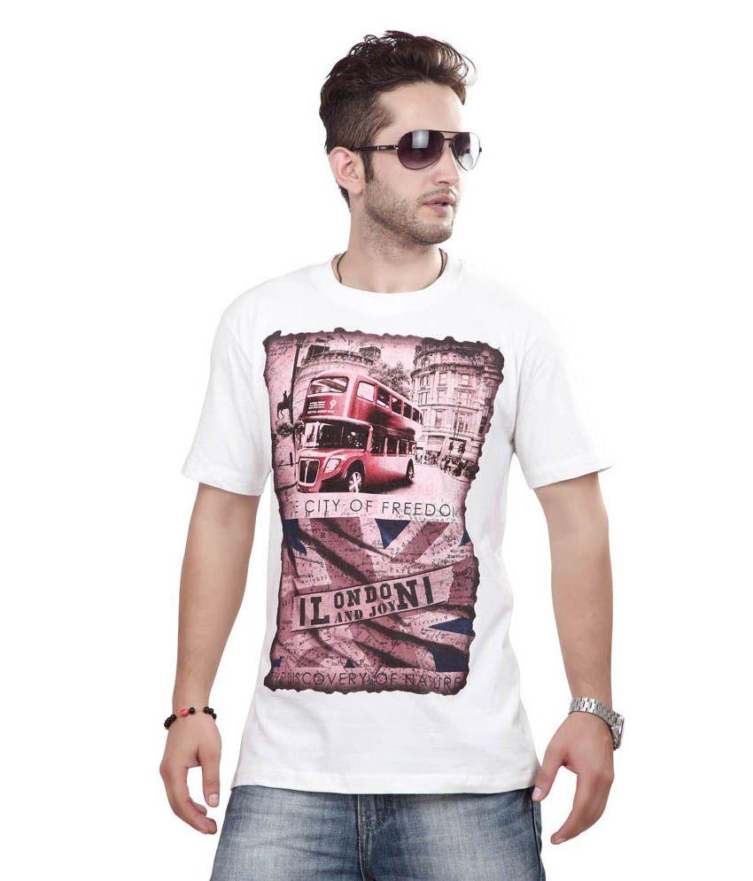 Free Spirit White Cotton T-Shirt