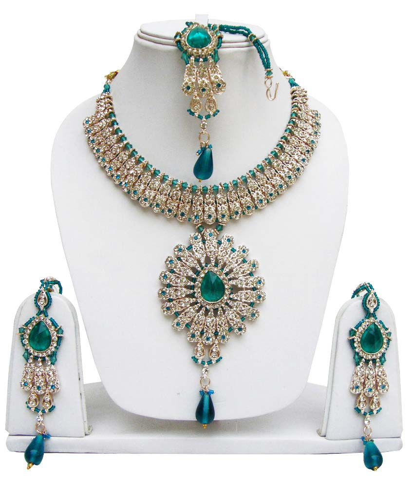 Lucky Jewellery Fabulous Rama-green Set