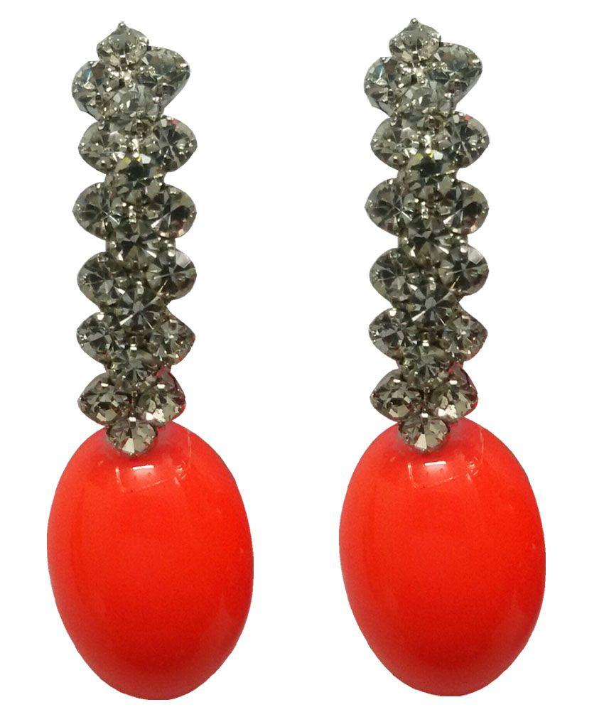 Mannmohh Neon Orange Earrings
