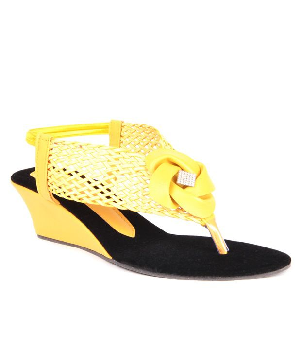Anand Archies Yellow Wedges Sandals