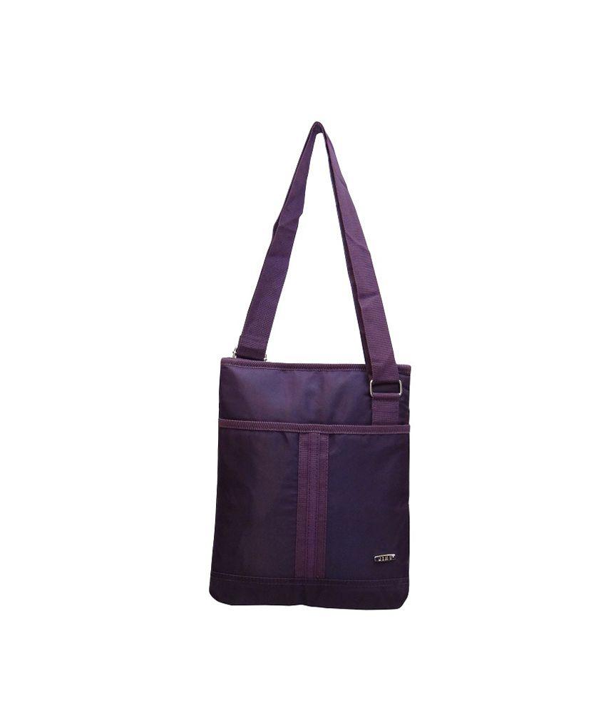 Jinu Trendy Handbag Cum Sling Bag For Women- Purple